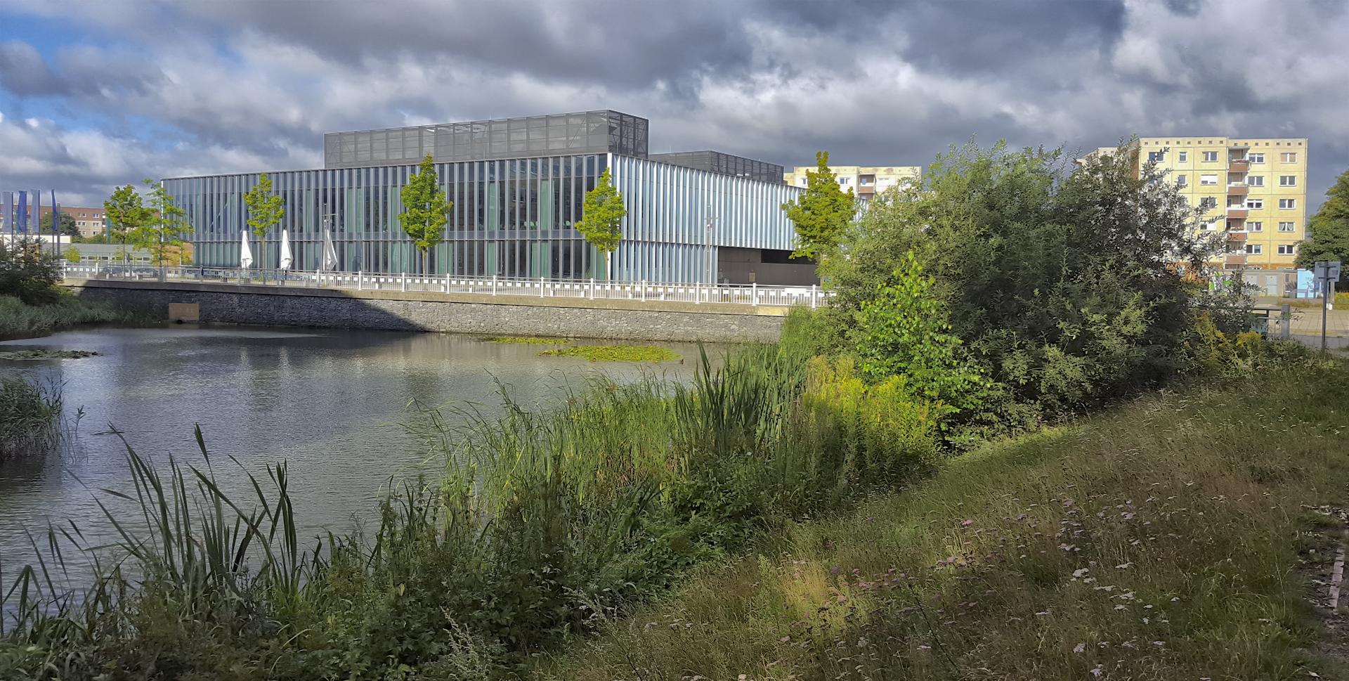 Klinikum und Mensa am Berthold-Beitz-Platz in Greifswald
