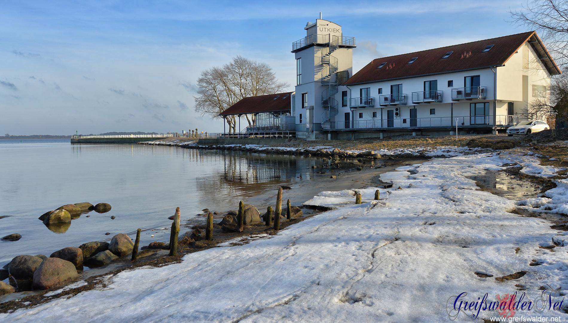 Winterwetter am Utkiek in Greifswald-Wieck
