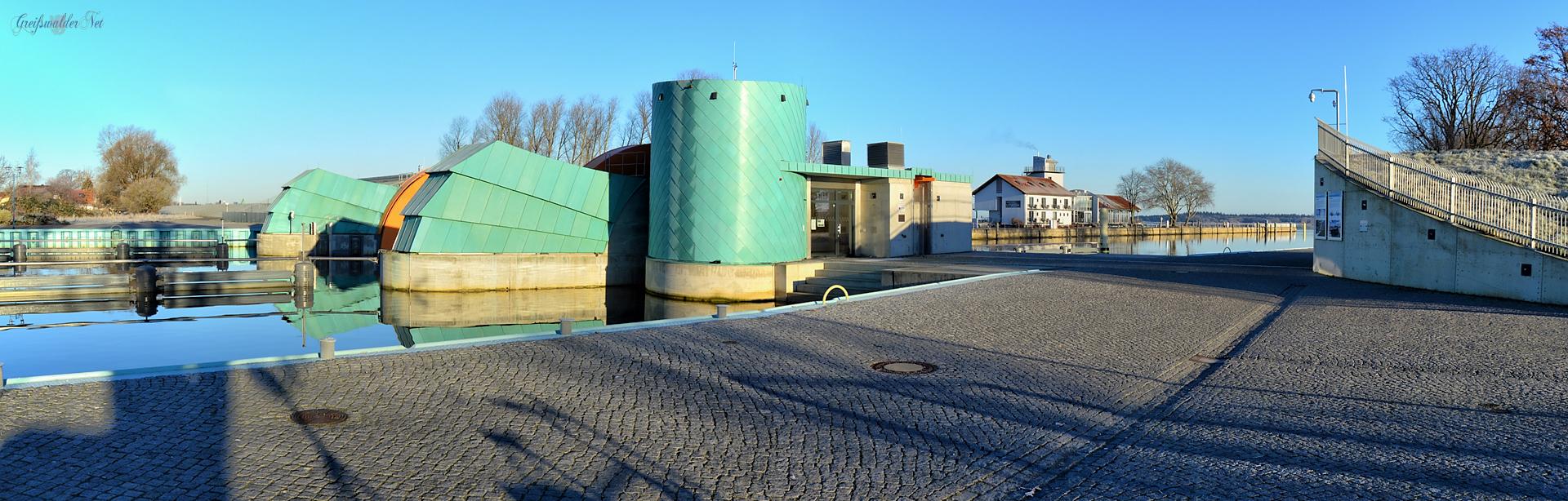 Am Sperrwerk in Greifswald-Wieck