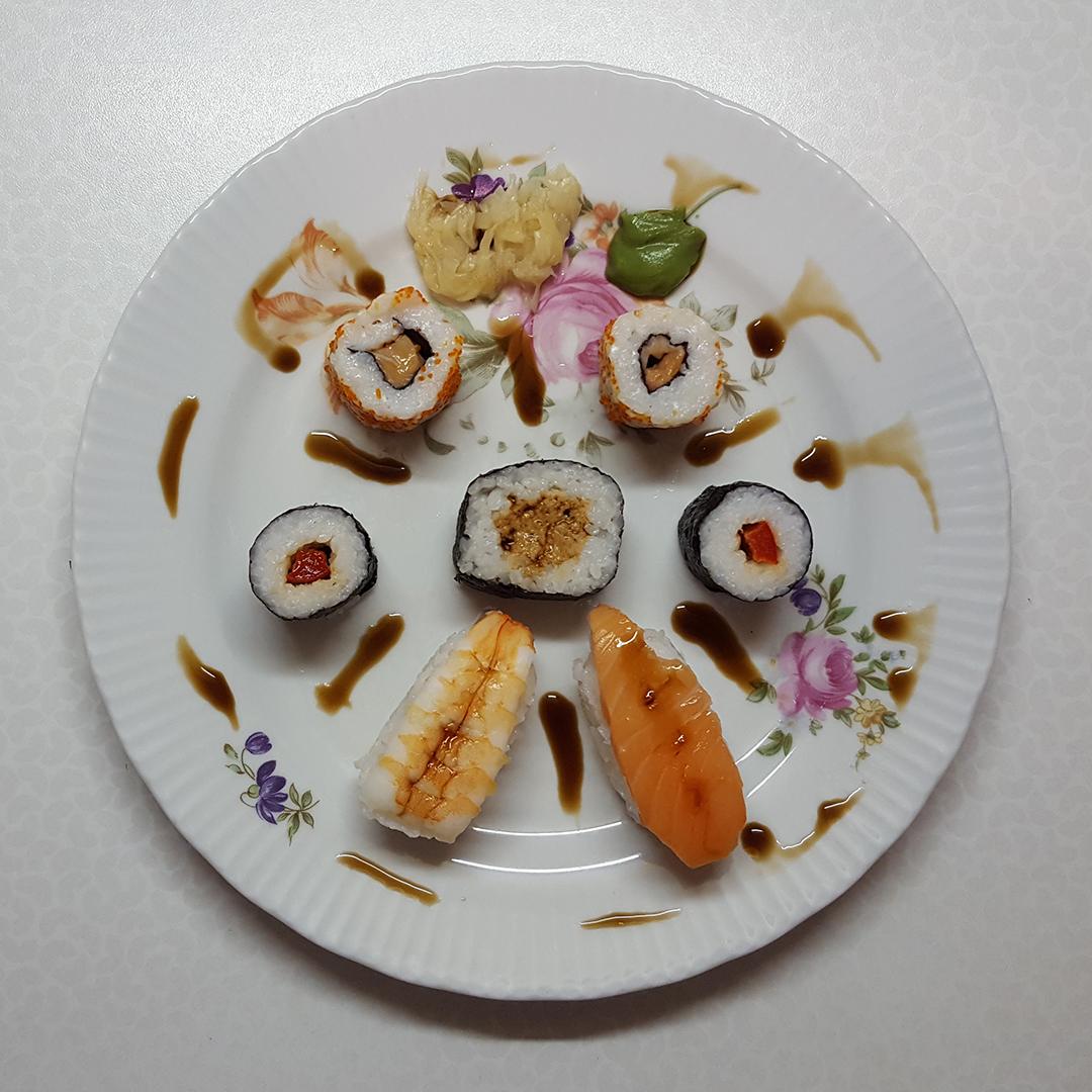 Sushi zum Mittag