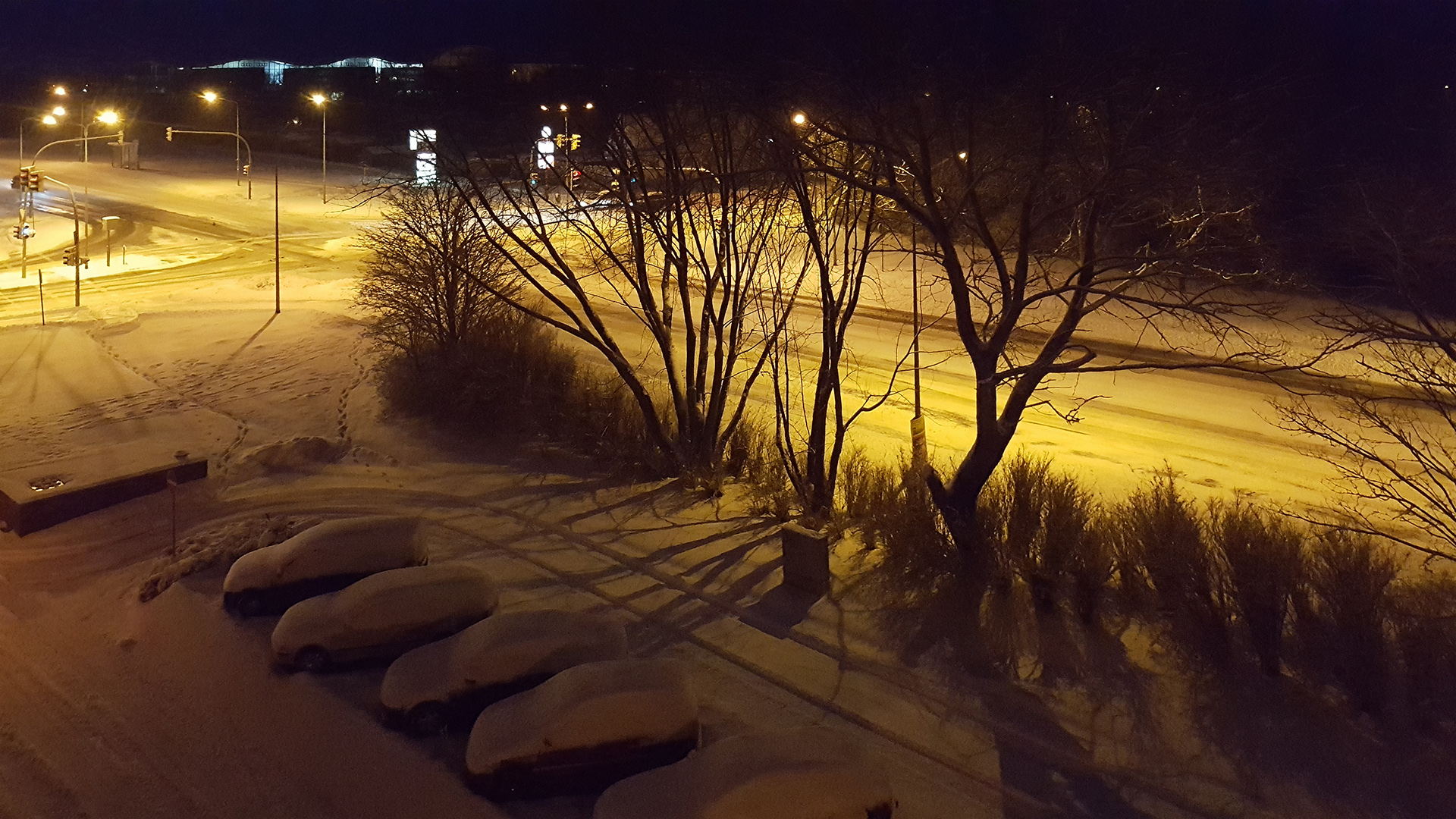 Schnee der Nacht in Greifswald