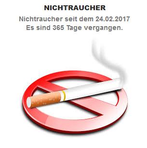 1 Jahr Nichtraucher