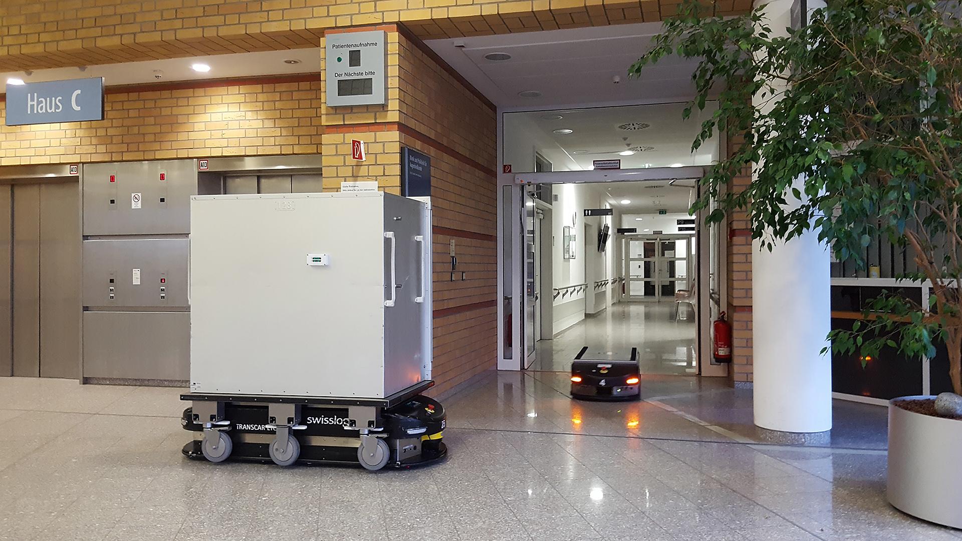 Automatisches Transportsystem im Klinikum Greifswald