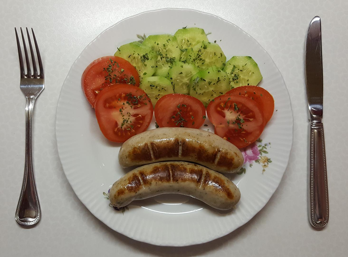 Abendessen: Bratwurst