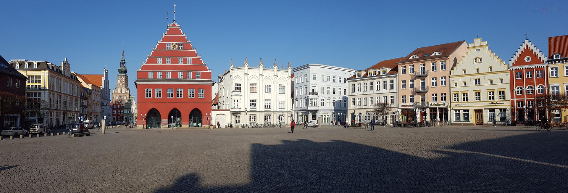 Panorama Marktplatz Greifswald
