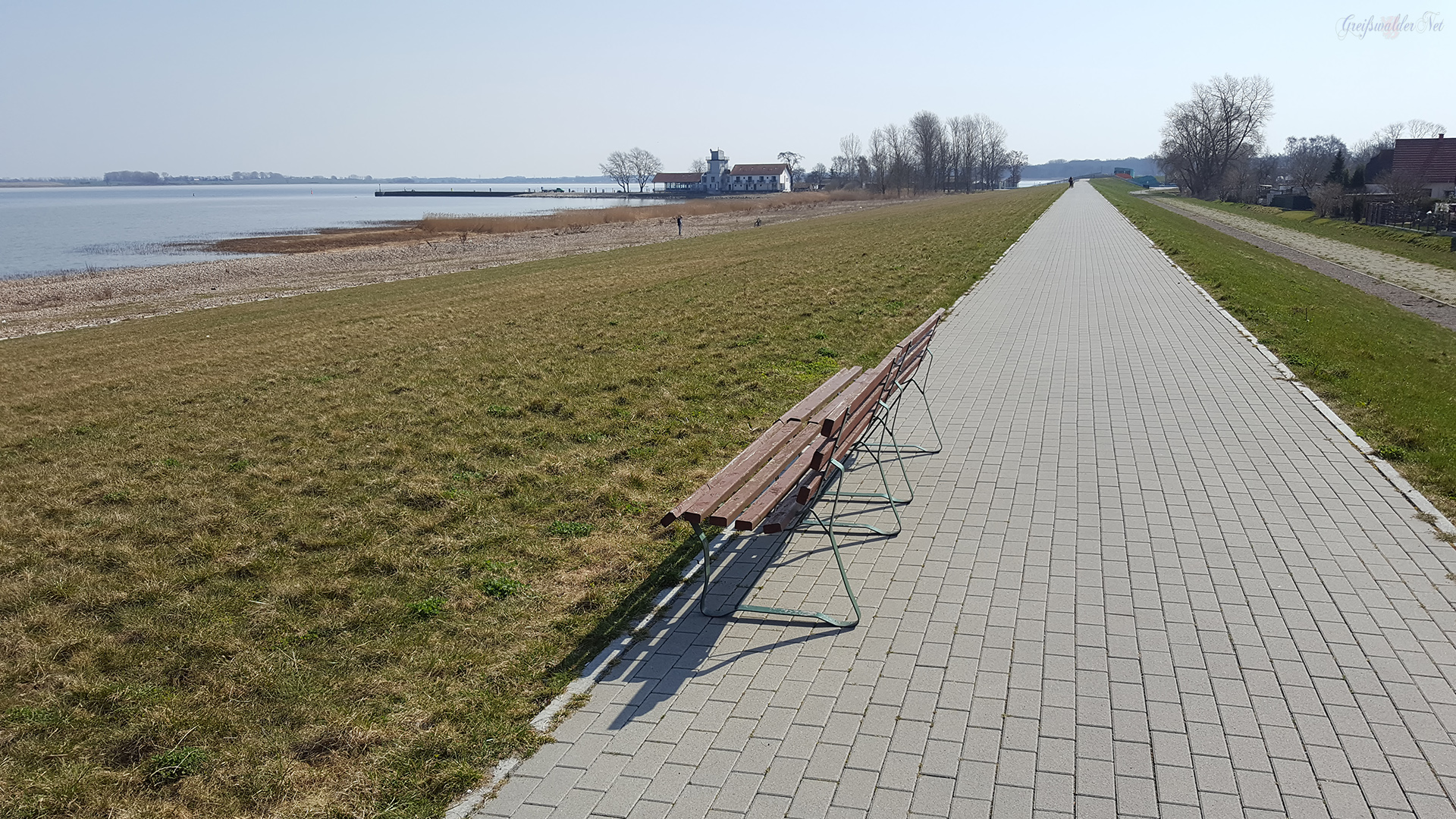 Deich in Greifswald-Ladebow