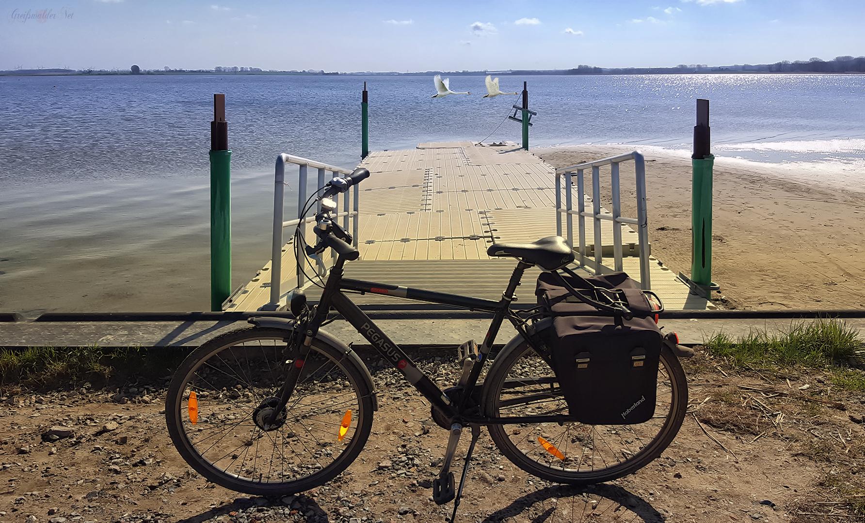 Fahrradtour an der Dänischen Wiek in Greifswald-Wieck