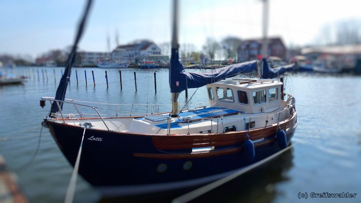 Boot in Greifswald-Wieck