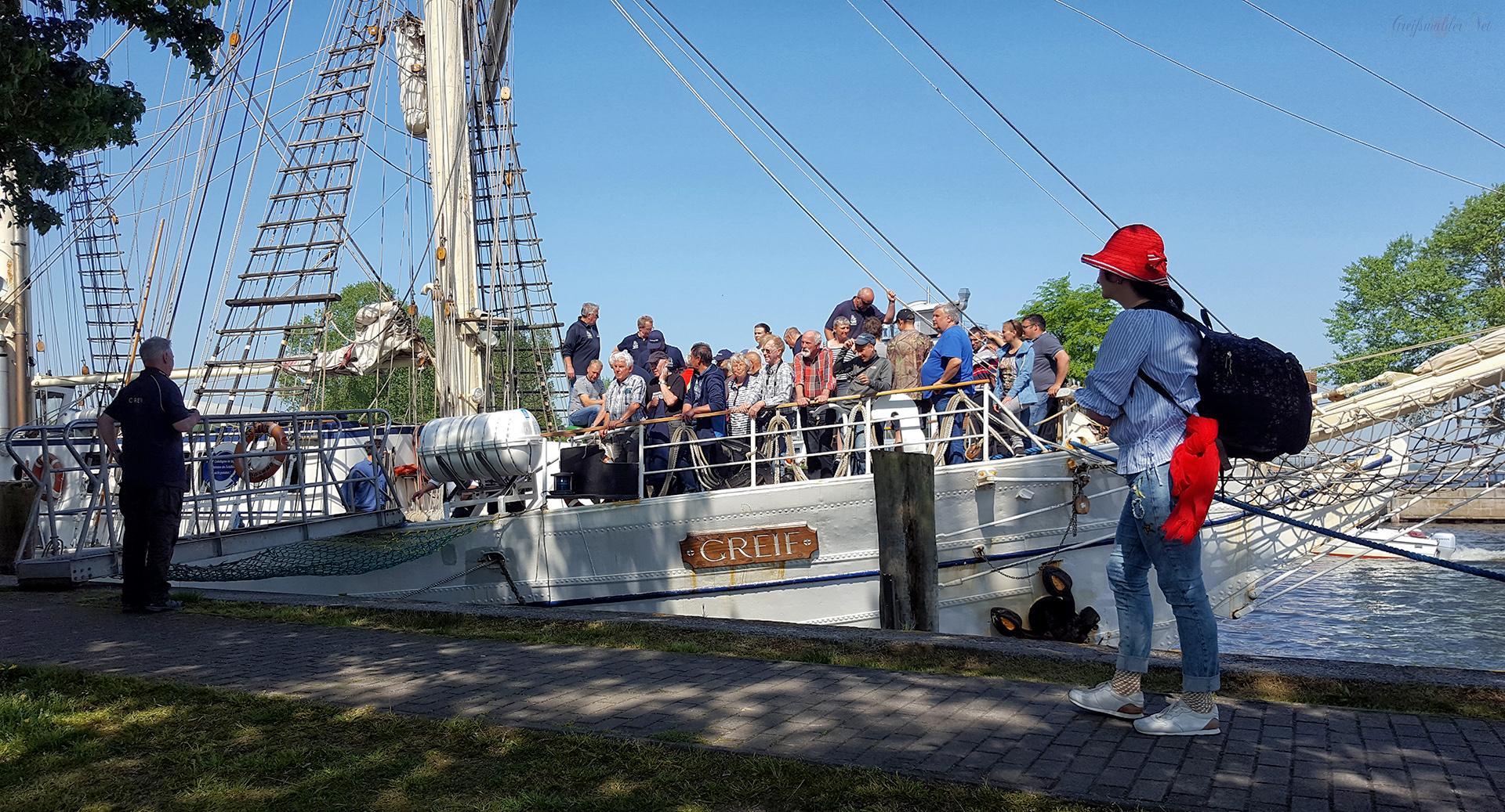 """Heimkehr Segelschulschiff """"Greif"""" nach Greifswald-Wieck"""