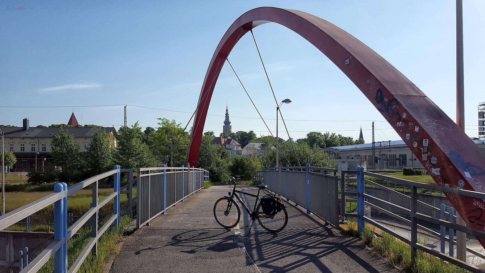 Brücke am Bahnhof in Greifswald