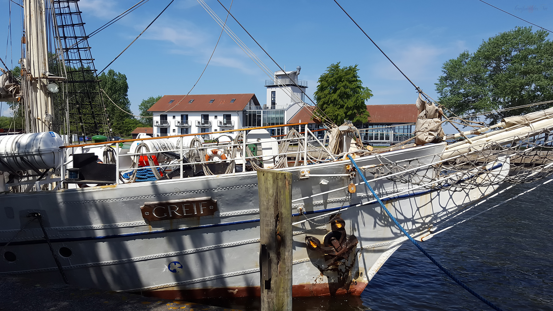 Erholung in Greifswald-Wieck - Segelschulschiff Greif, Hotel Utkiek