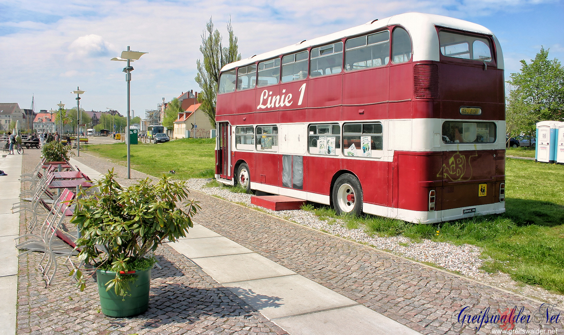 Museumshafen Greifswald im Monat Mai 2008