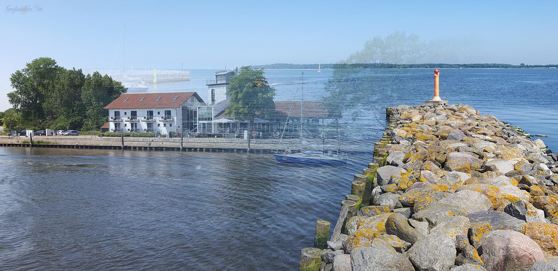 Fotomontage: Mole und Utkiek in Greifswald-Wieck