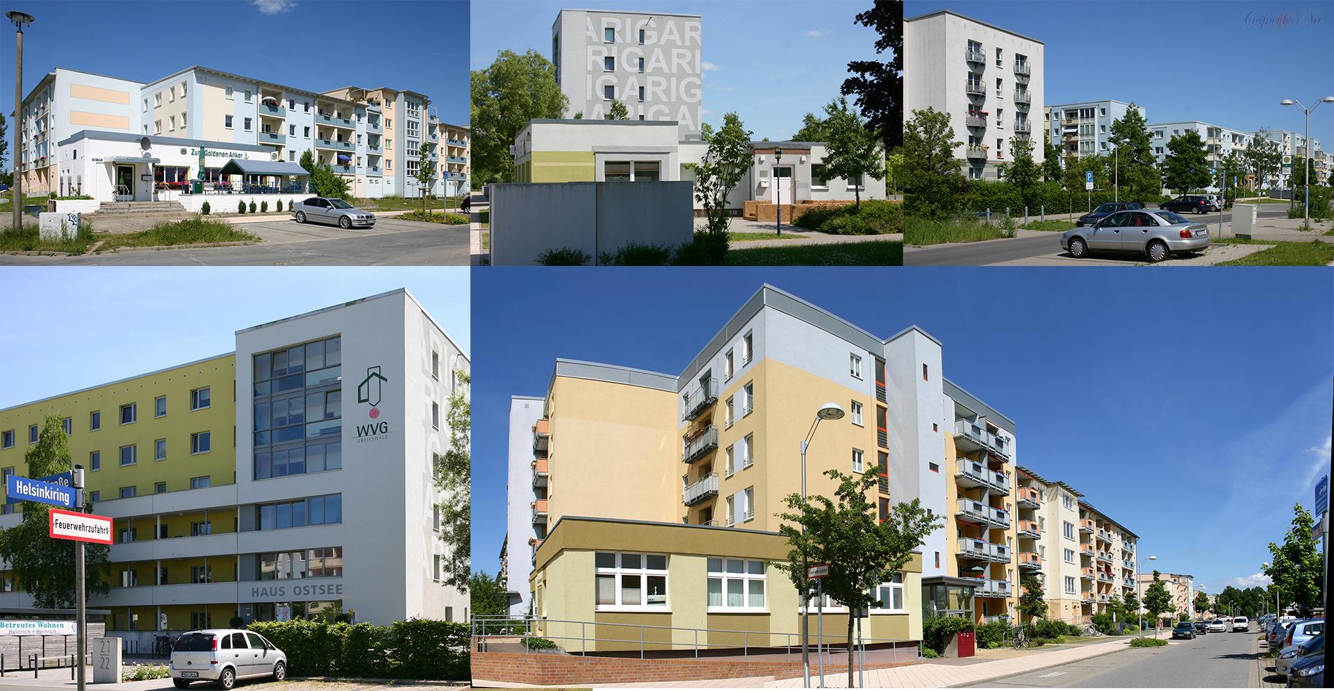 Greifswald - Ostseeviertel Parkseite