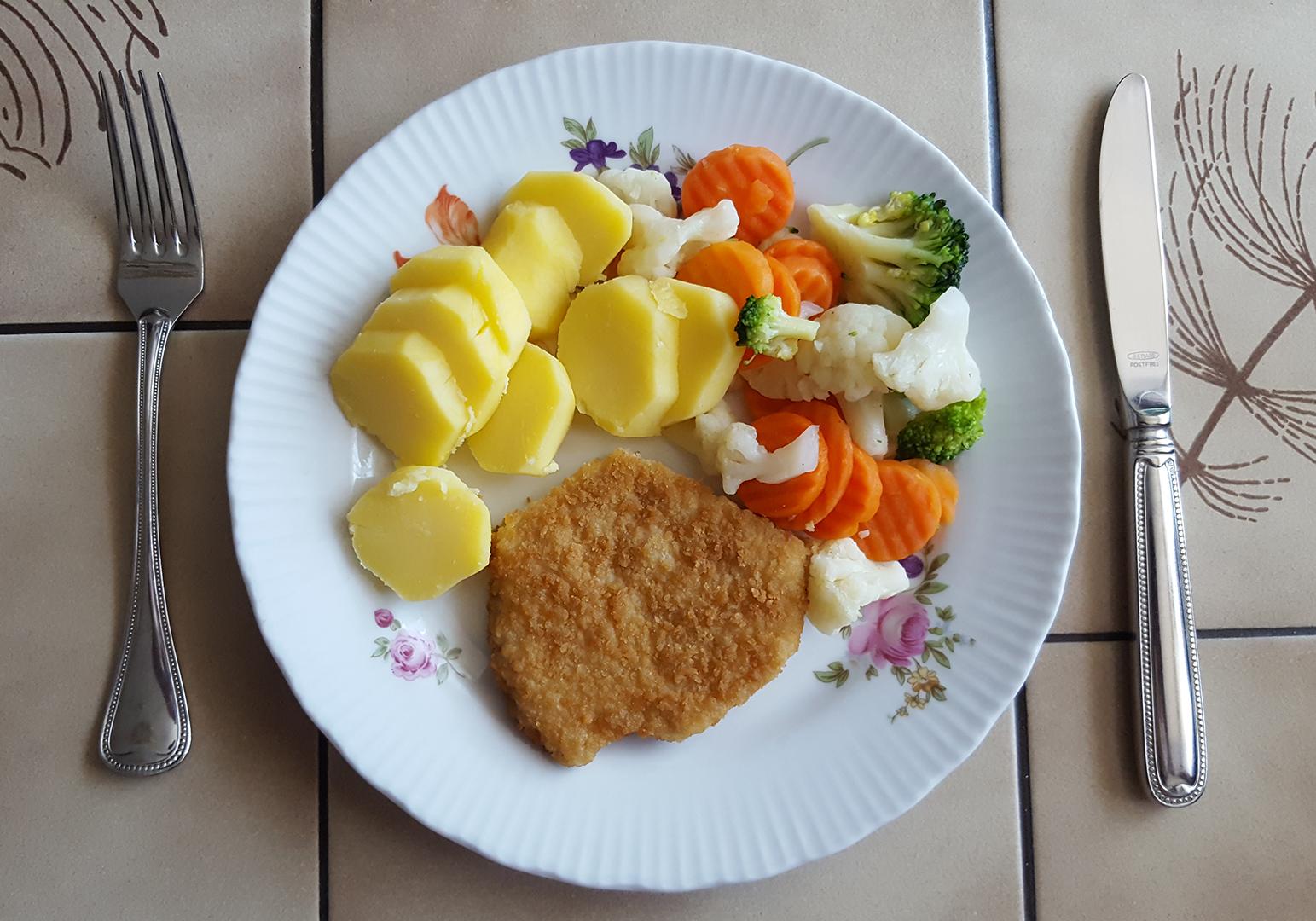 Mittagessen - aufgewärmt vom gestrigen Tag