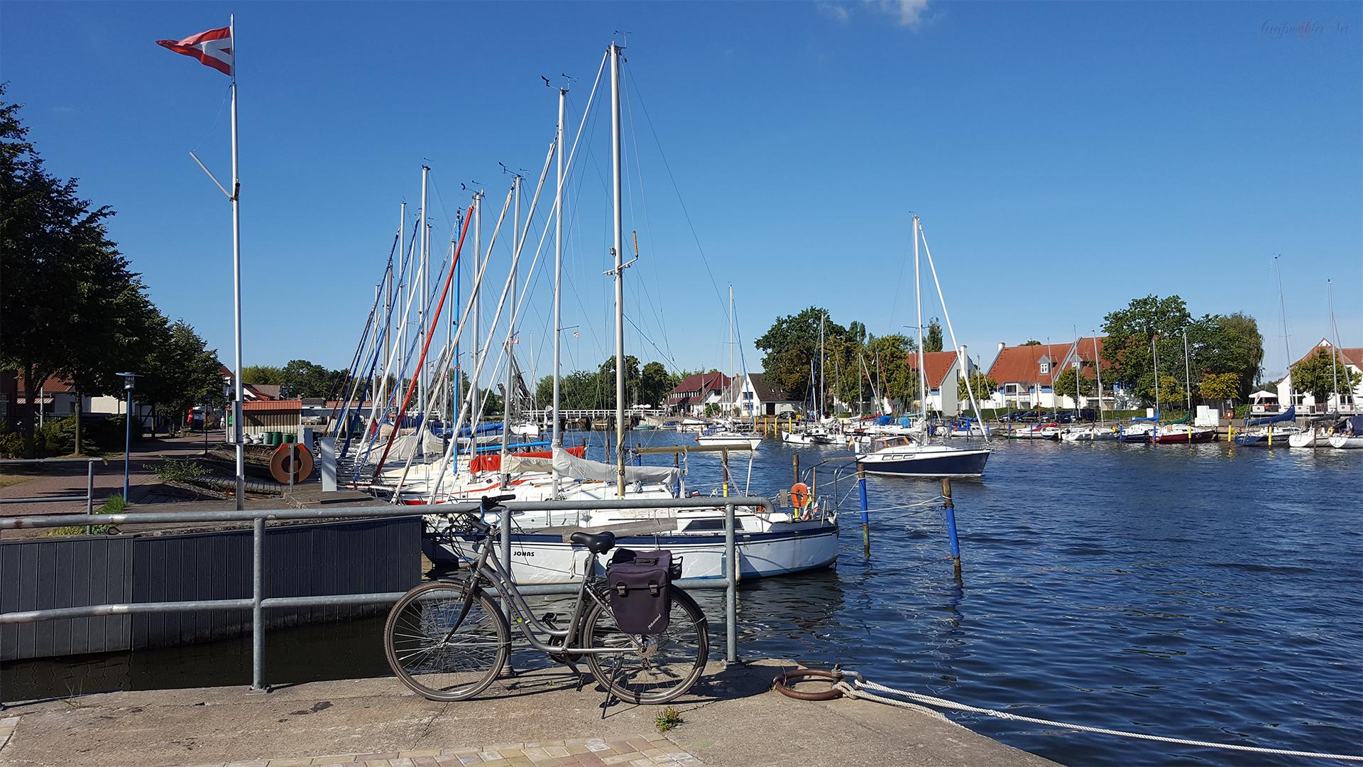 Segelboote auf dem Ryck