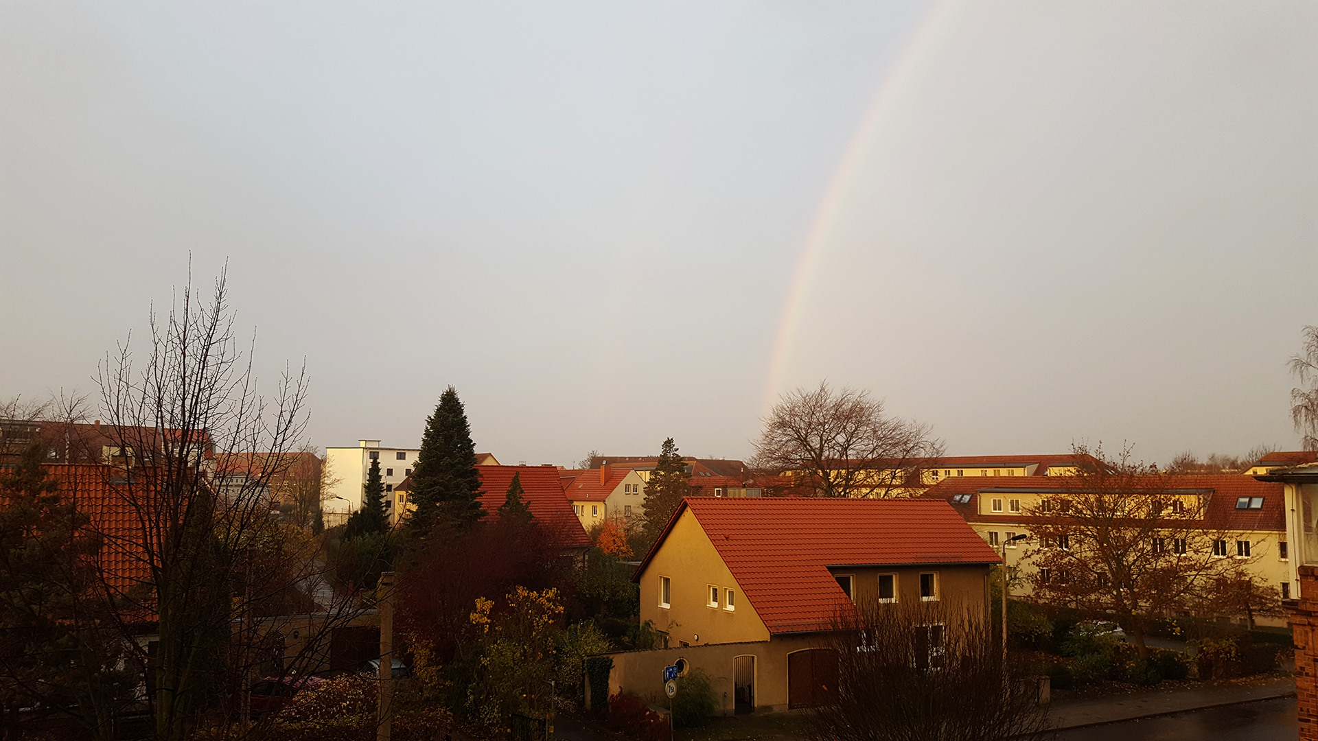 Regenbogen über Greifswald