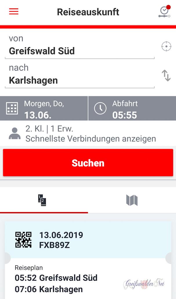 Reiseauskunft 13.06.2019
