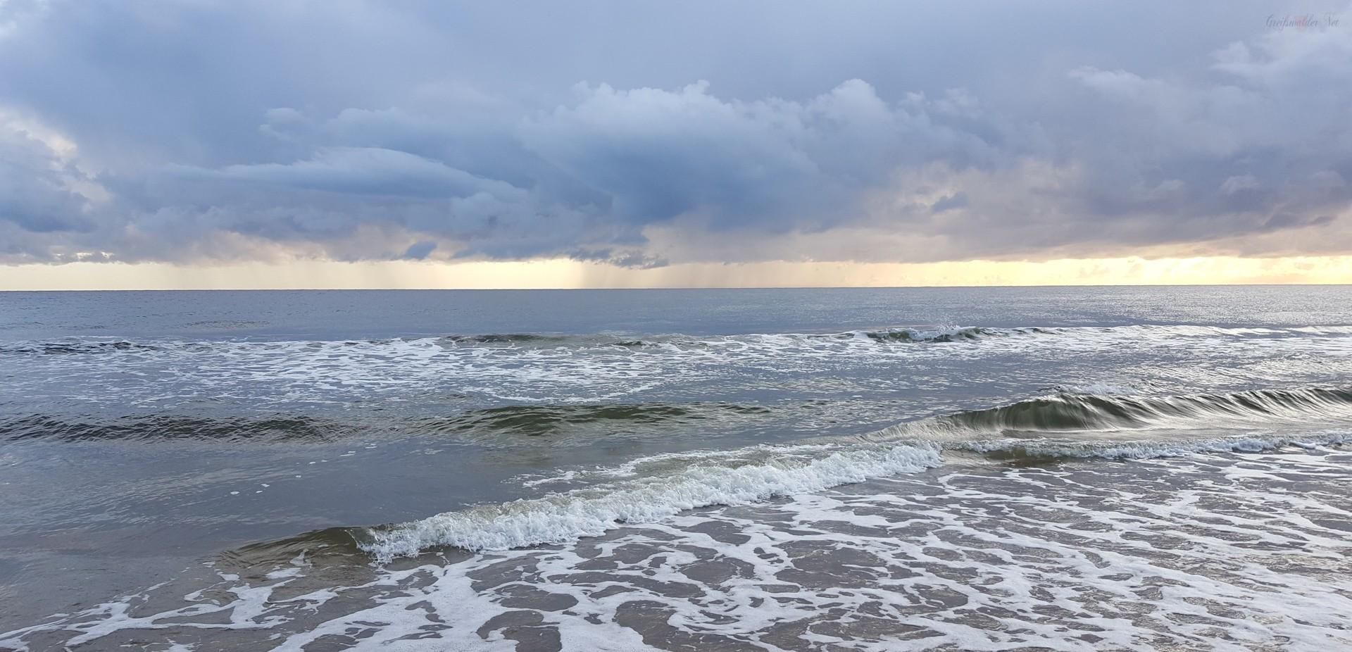 Regen über der Ostsee