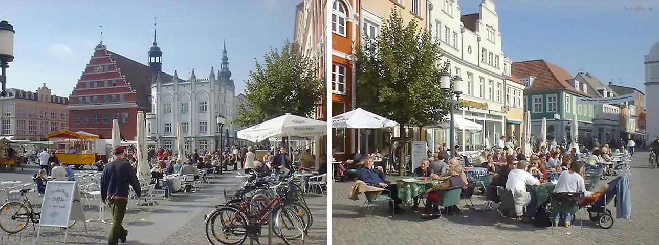Marktplatz Greifswald - Oktober 2002