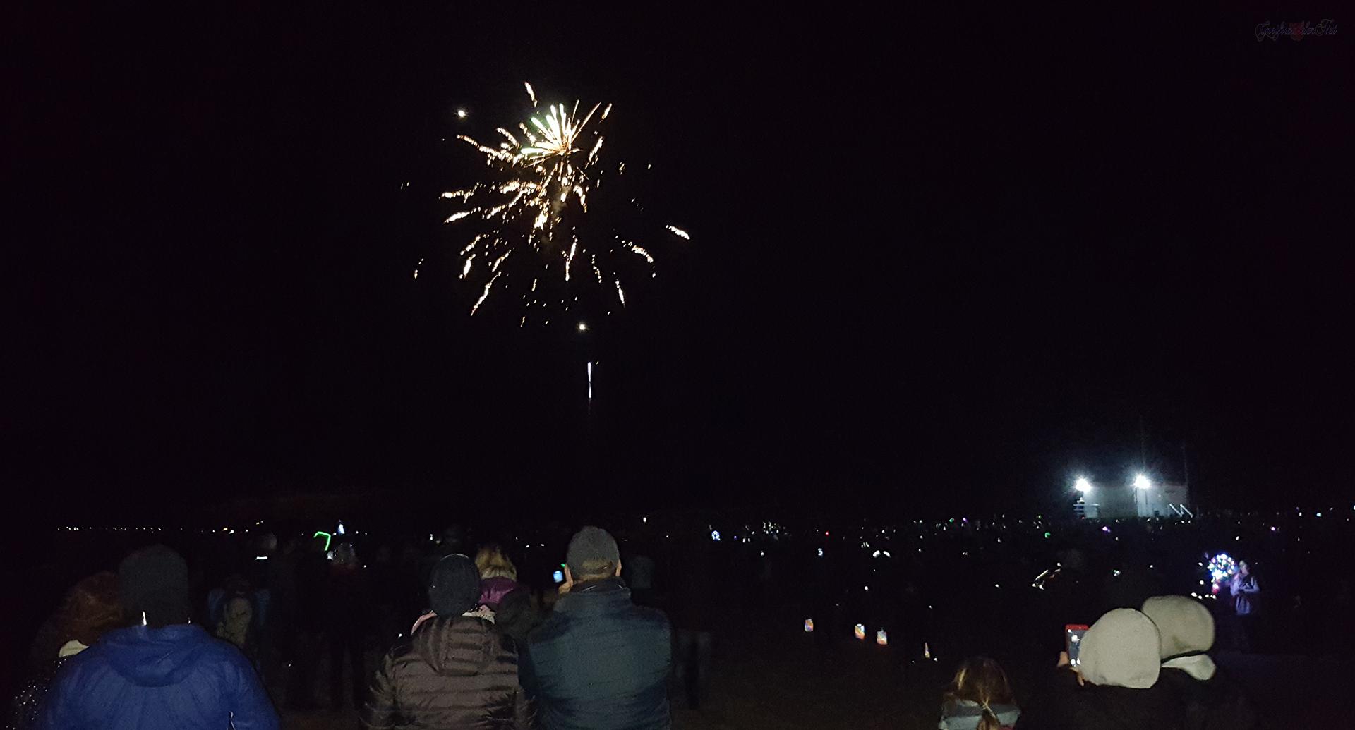 Feuerwerk am Strand in Trassenheide