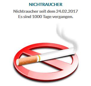1000 Tage Nichtraucher