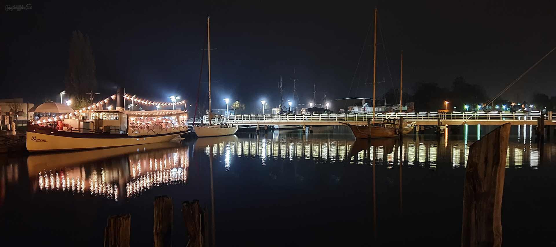 Abend am Museumshafen Greifswald
