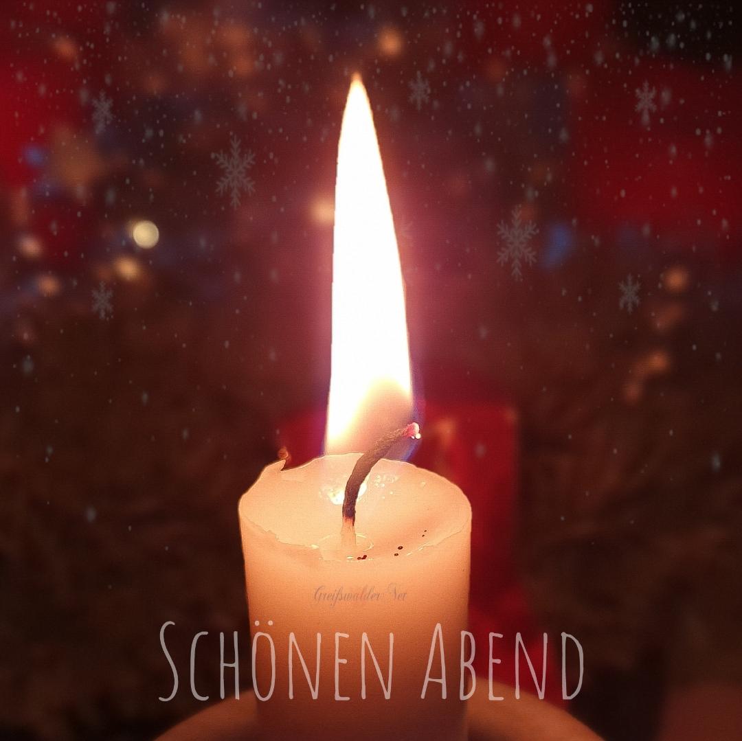 Schönen Abend bei Kerzenschein
