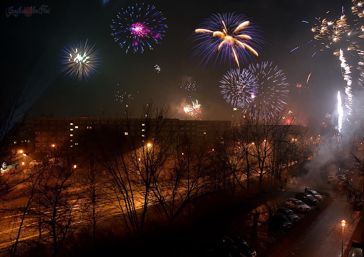 Silvesterfeuerwerk in Greifswald