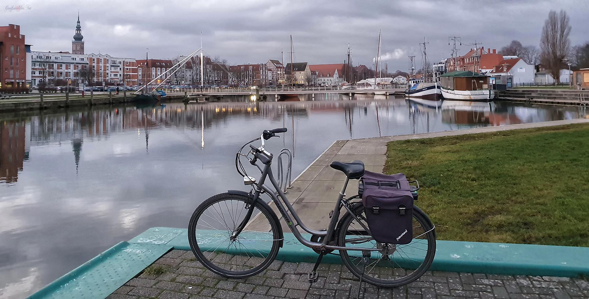 Abend am Museumshafen in Greifswald