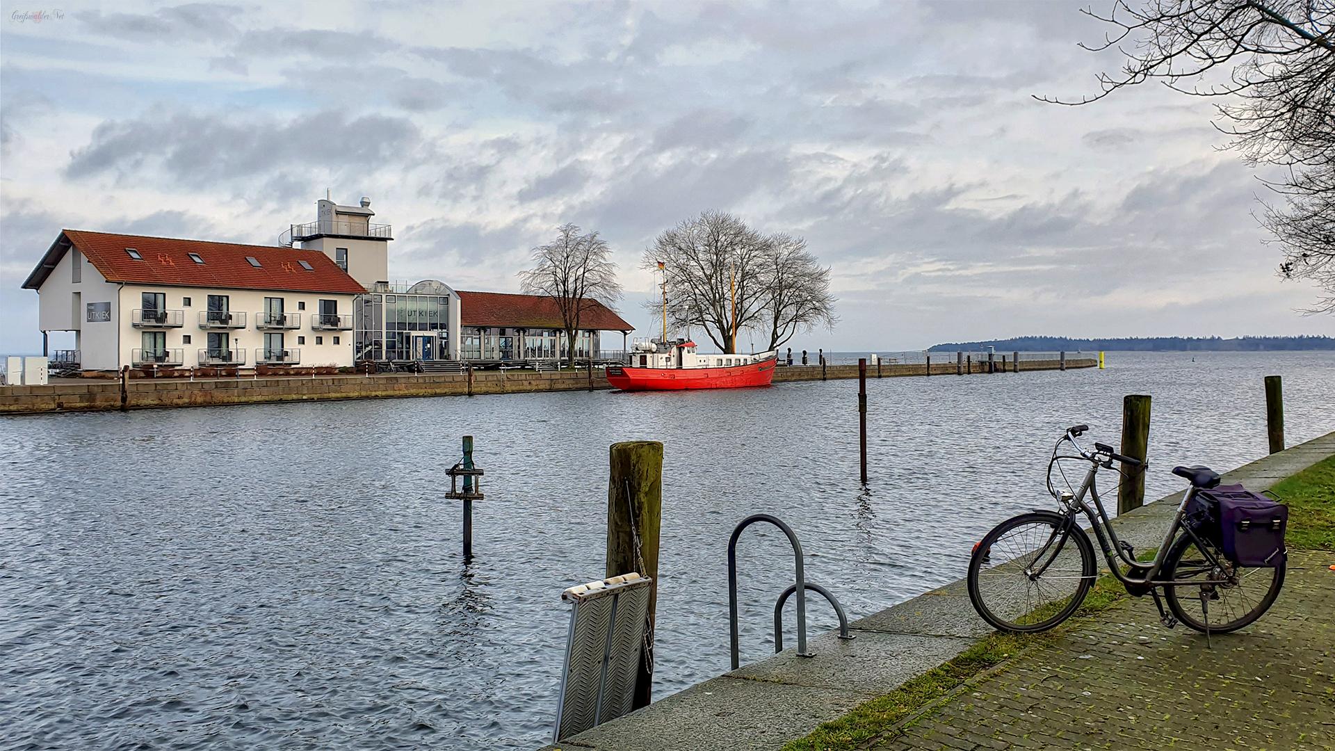 Utkiek und Nordmole in Greifswald-Wieck