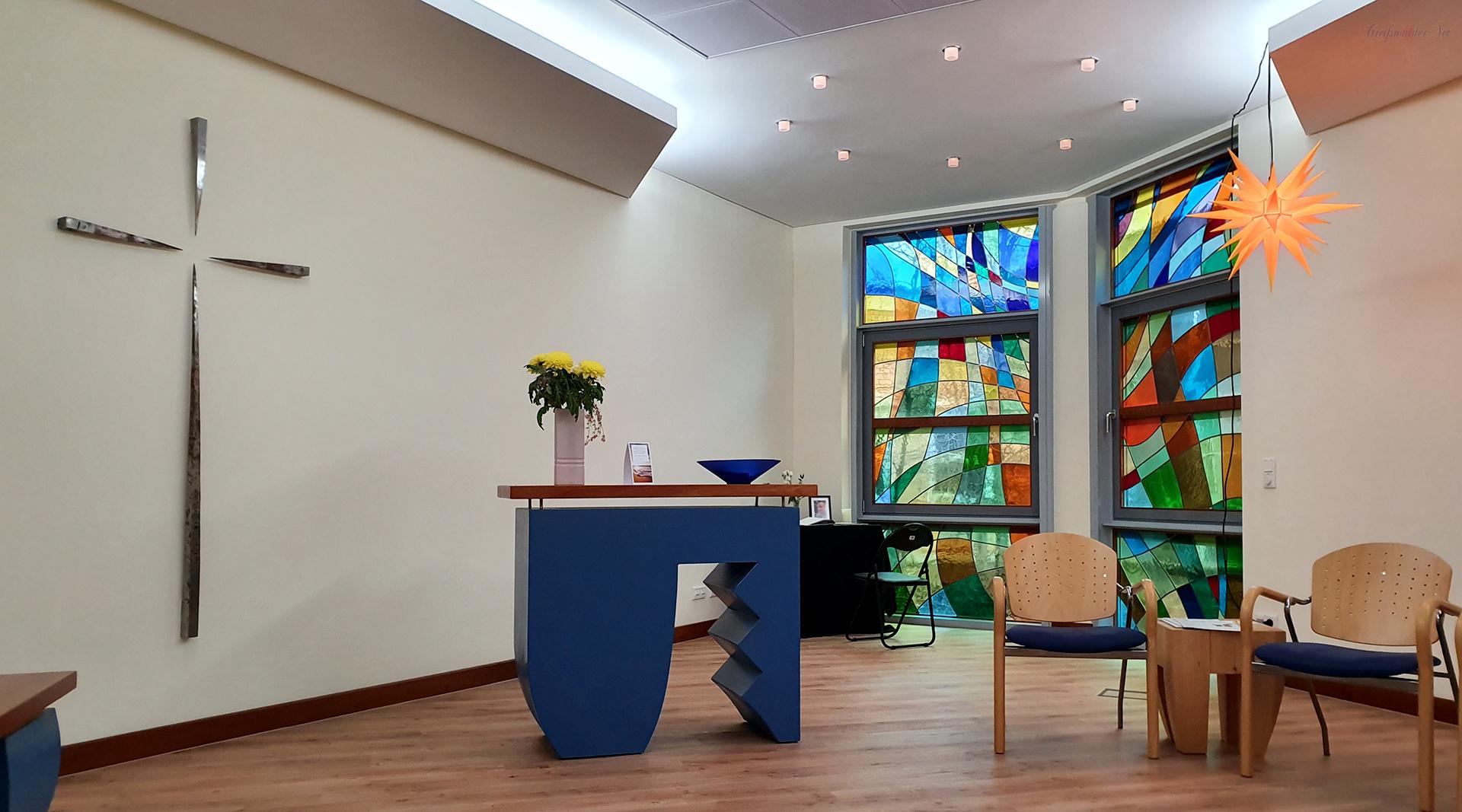 Raum der Stille in der Universitätsmedizin Greifswald