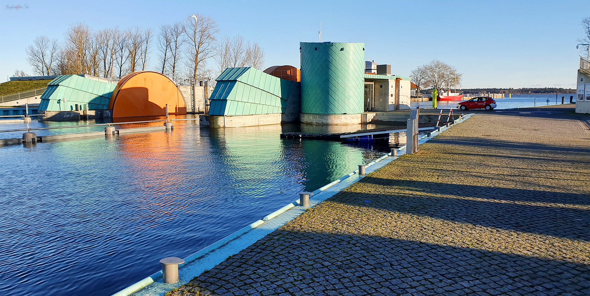 Sperrwerk in Greifswald-Wieck
