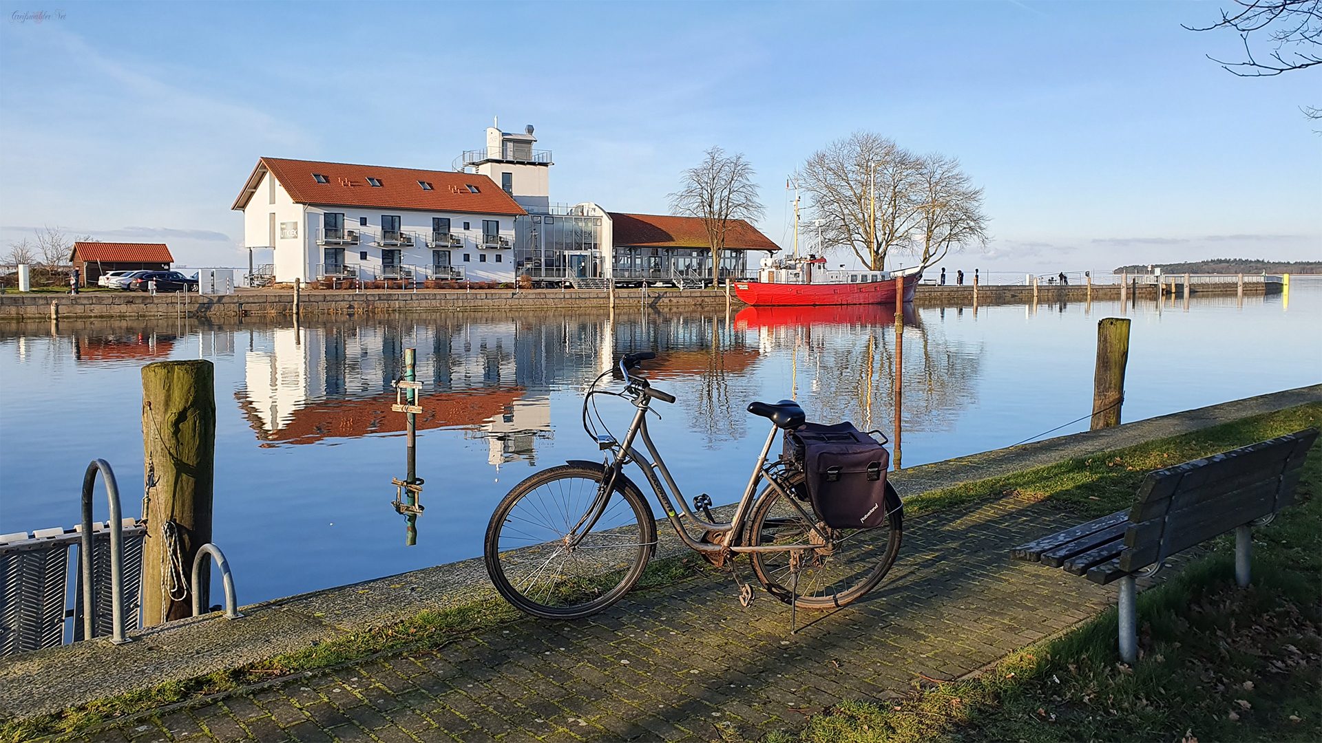 Frühlingshaftes Wetter am Ryck in Greifswald-Wieck