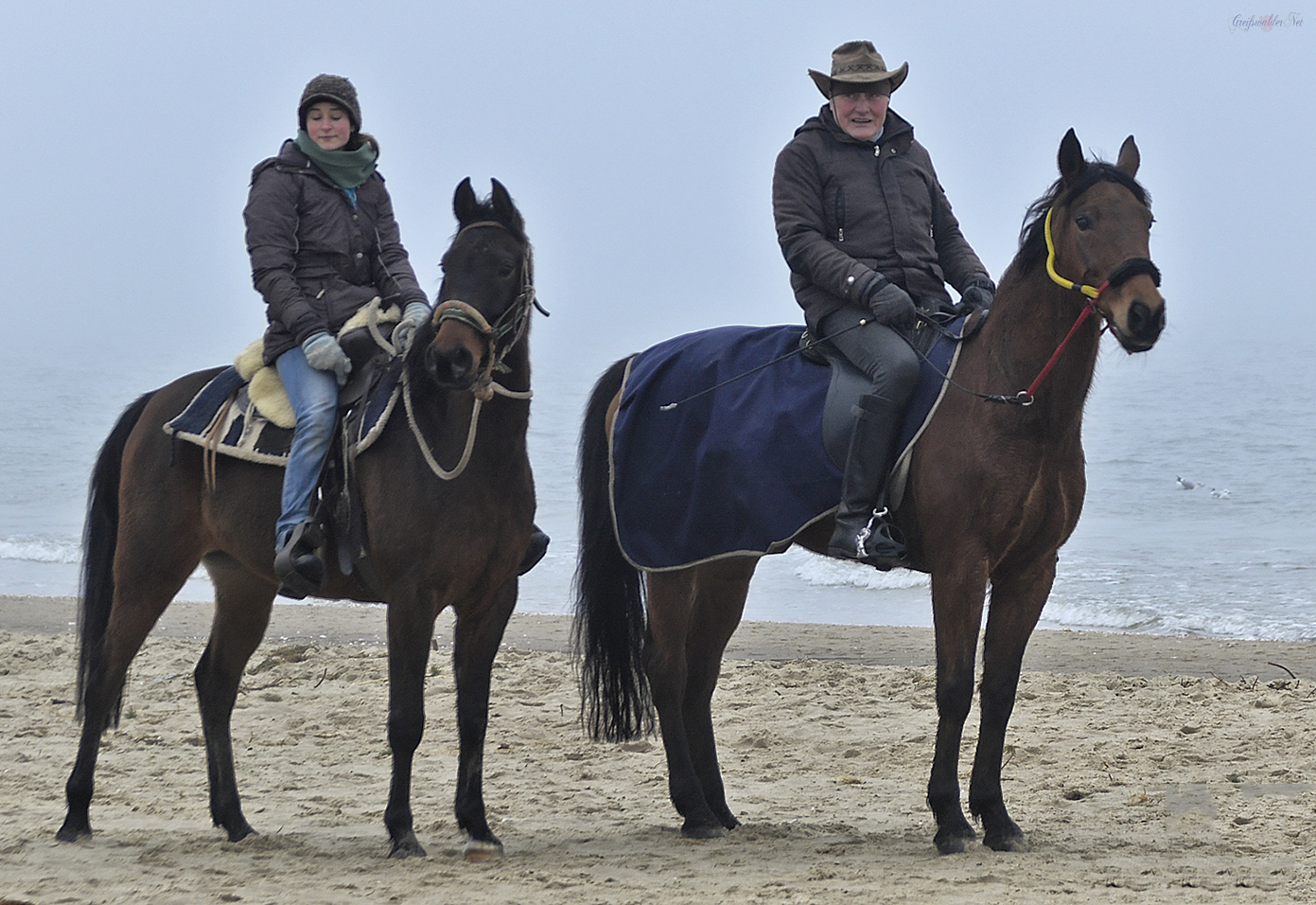 Reiter am Strand der Ostsee