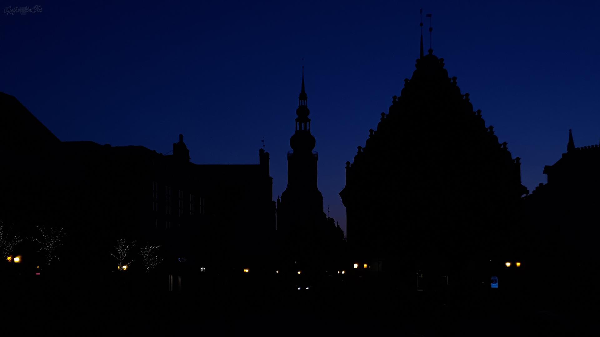 Greifswald in der Nacht