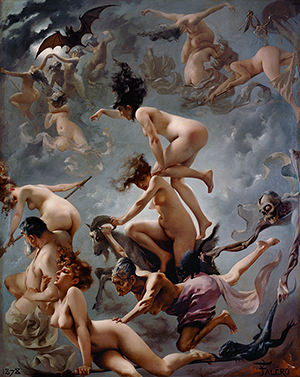 Walpurgisnacht, Luis Ricardo Falero, 1878