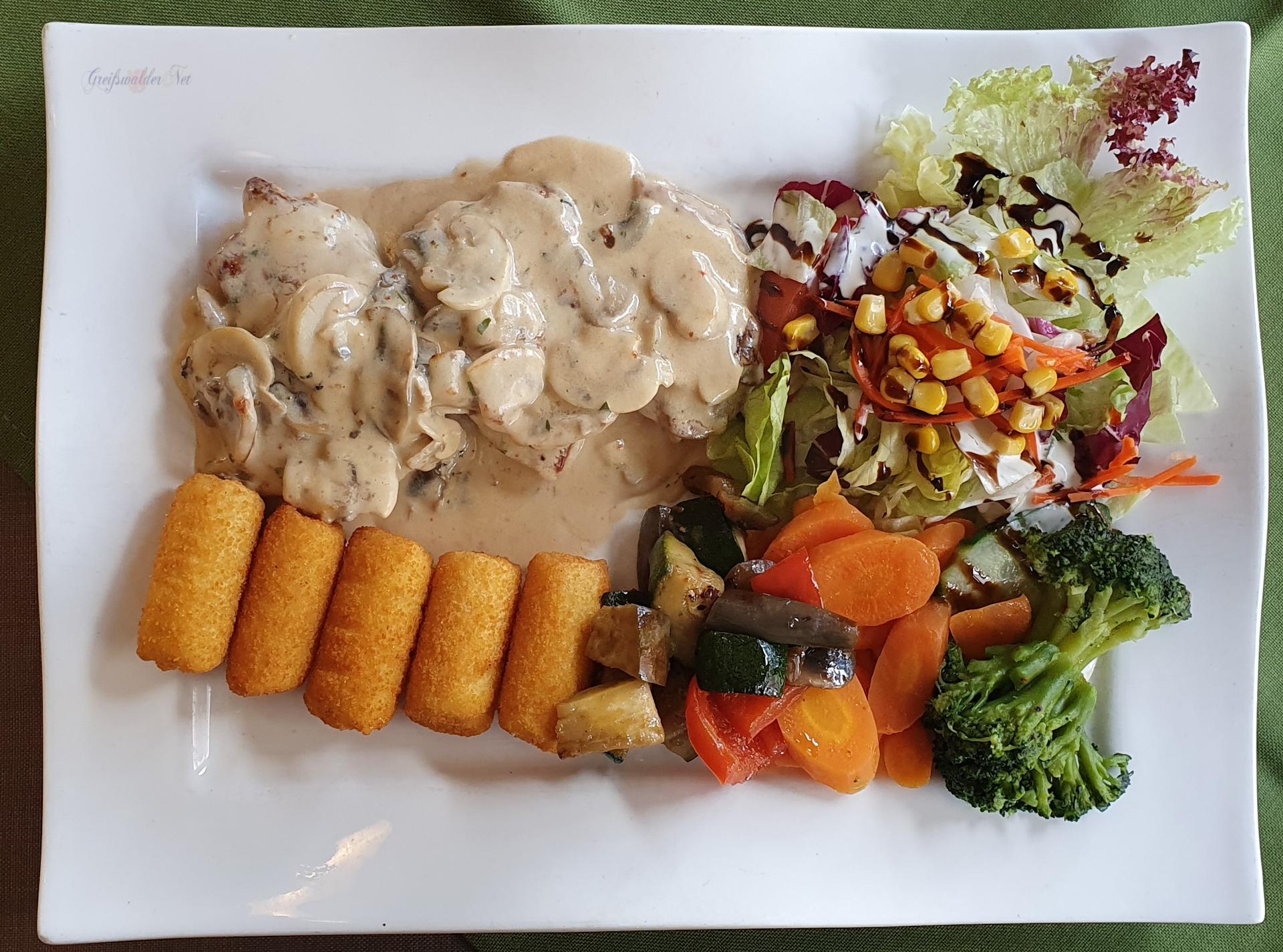 Mittag essen in Greifswald-Wieck