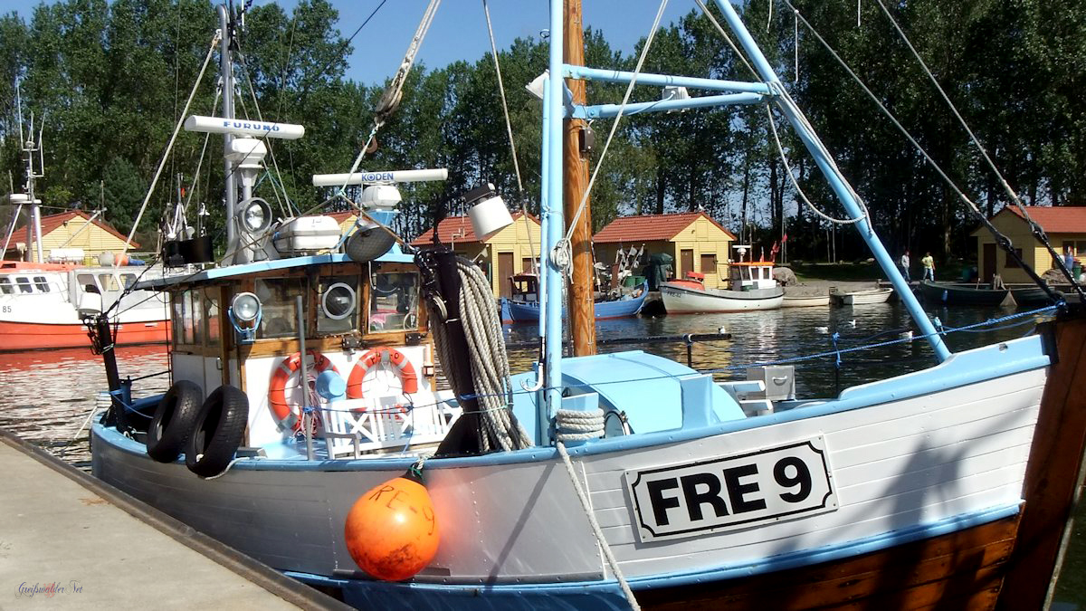 Fischerboot in Freest