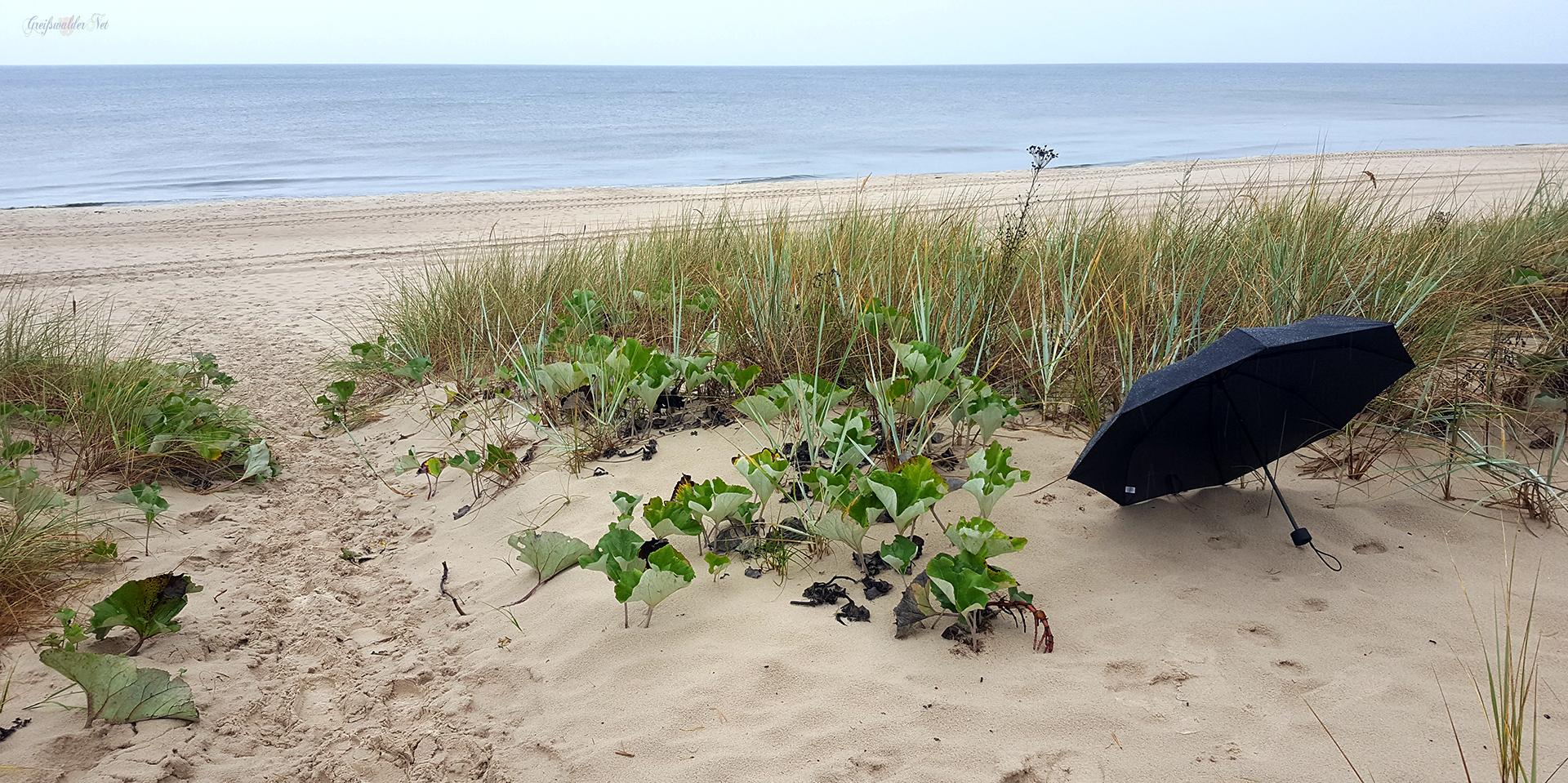 Regenwetter an der Ostsee