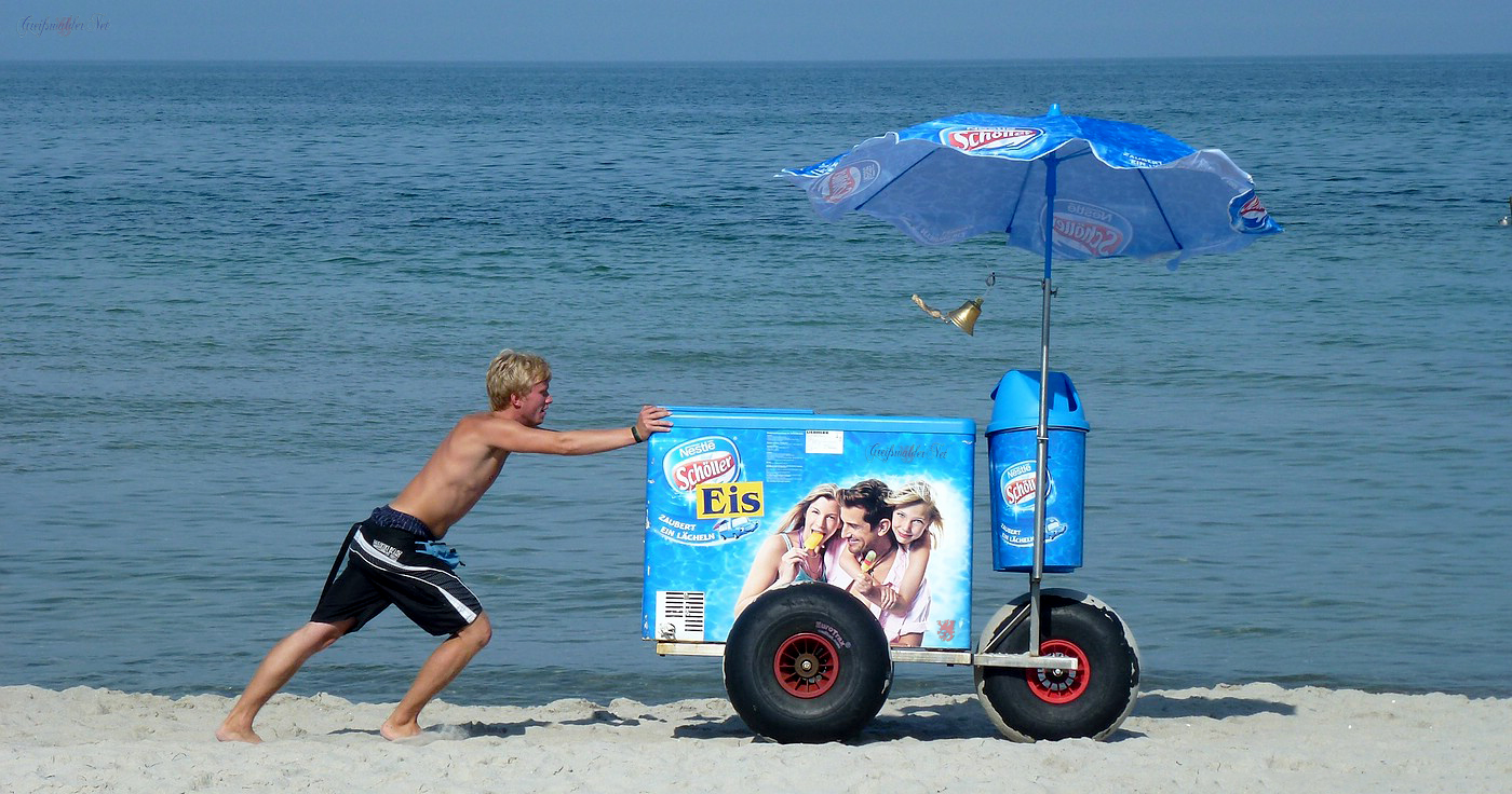 Eiswagen am Strand