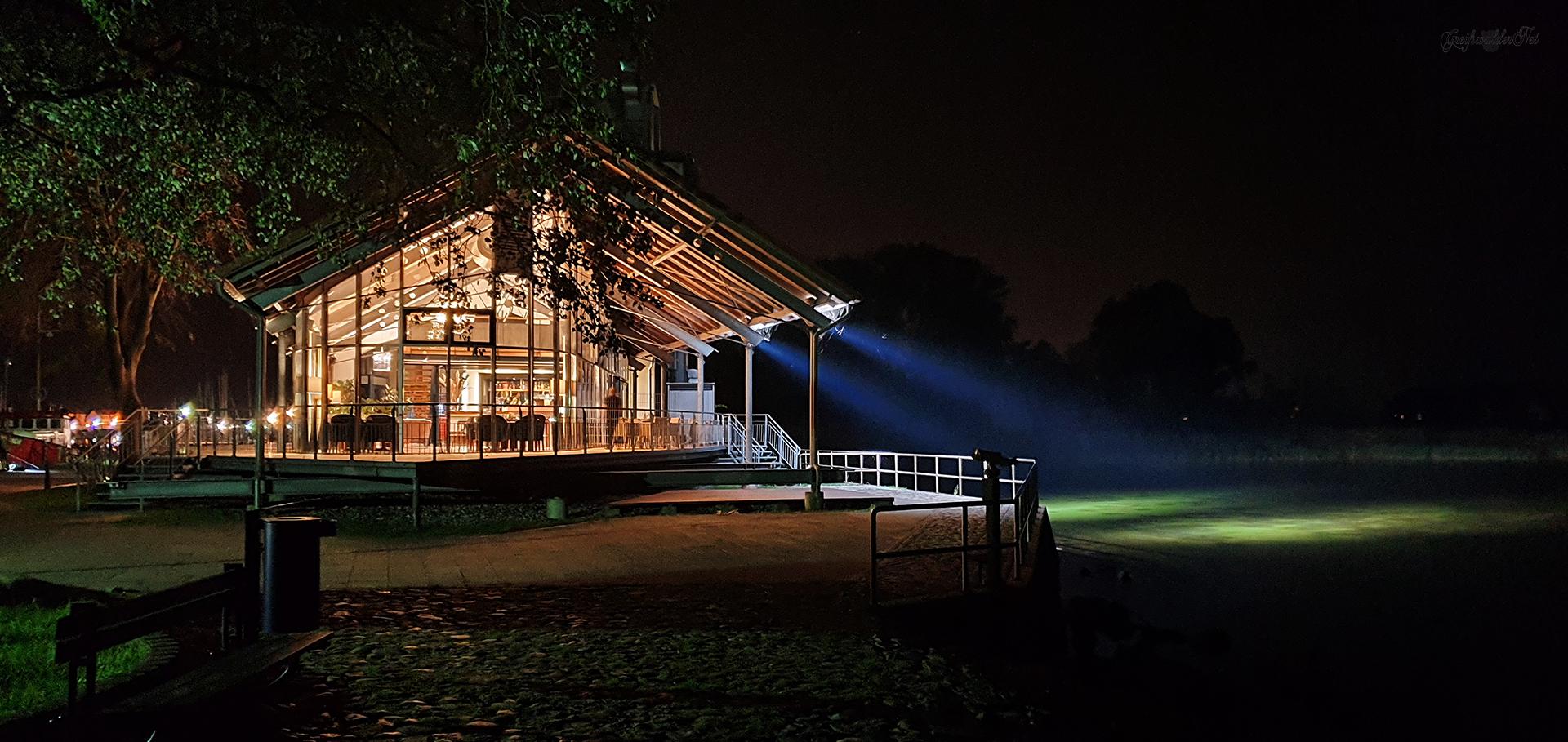 Utkiek in Greifswald-Wieck bei Nacht