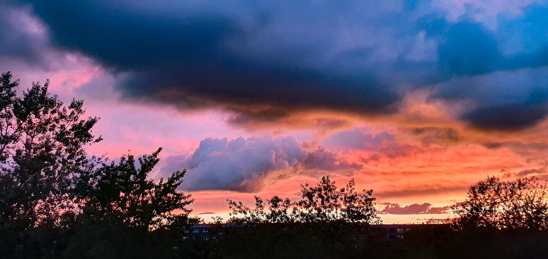 Kurz nach Sonnenuntergang in Greifswald