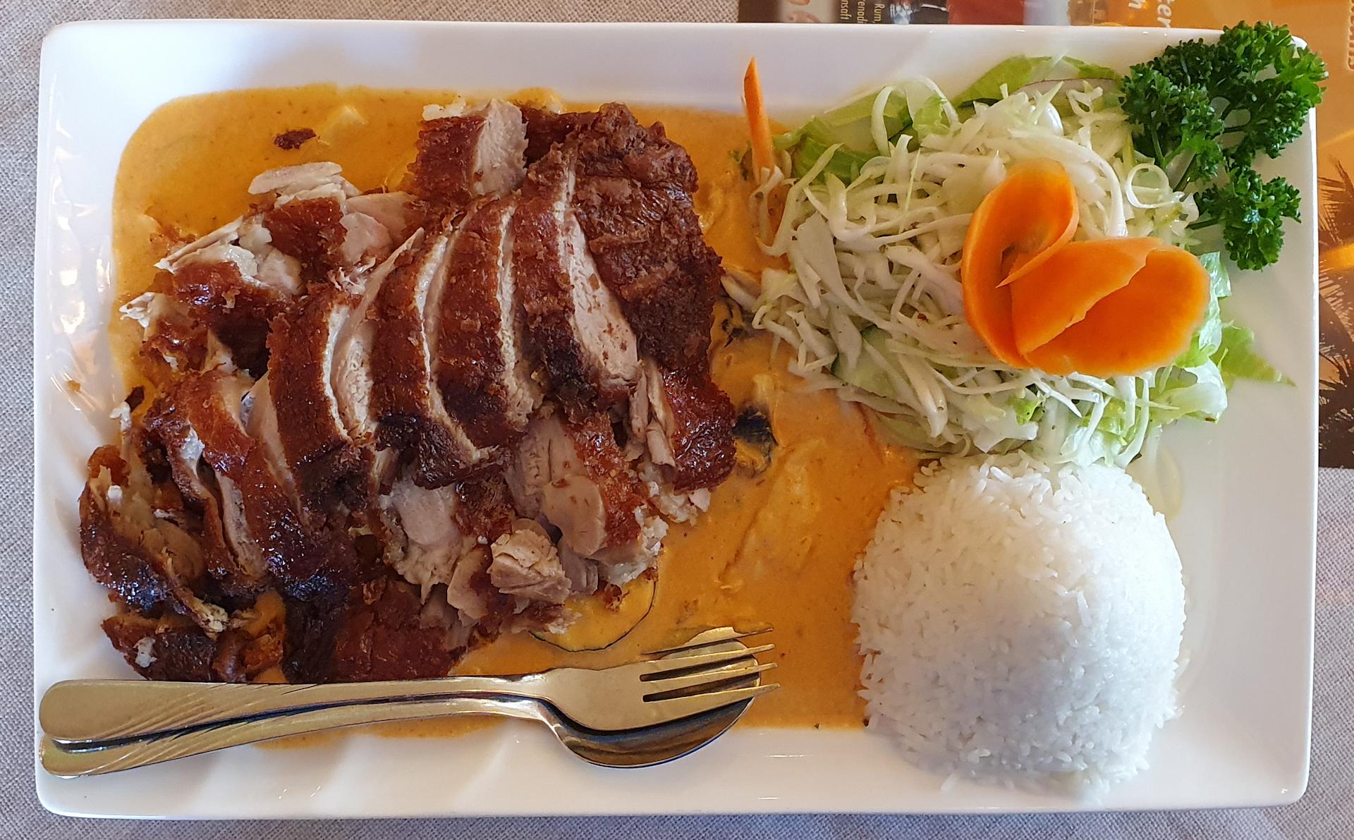 Mittagessen Asia Ente Reis