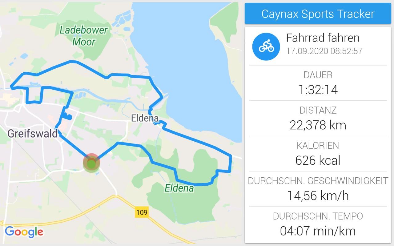 Fahrradtour am Vormittag