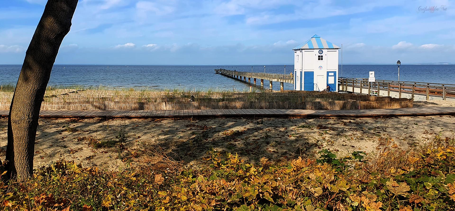 Seebrücke Lubmin, Herrliches Herbstwetter im Seebad Lubmin