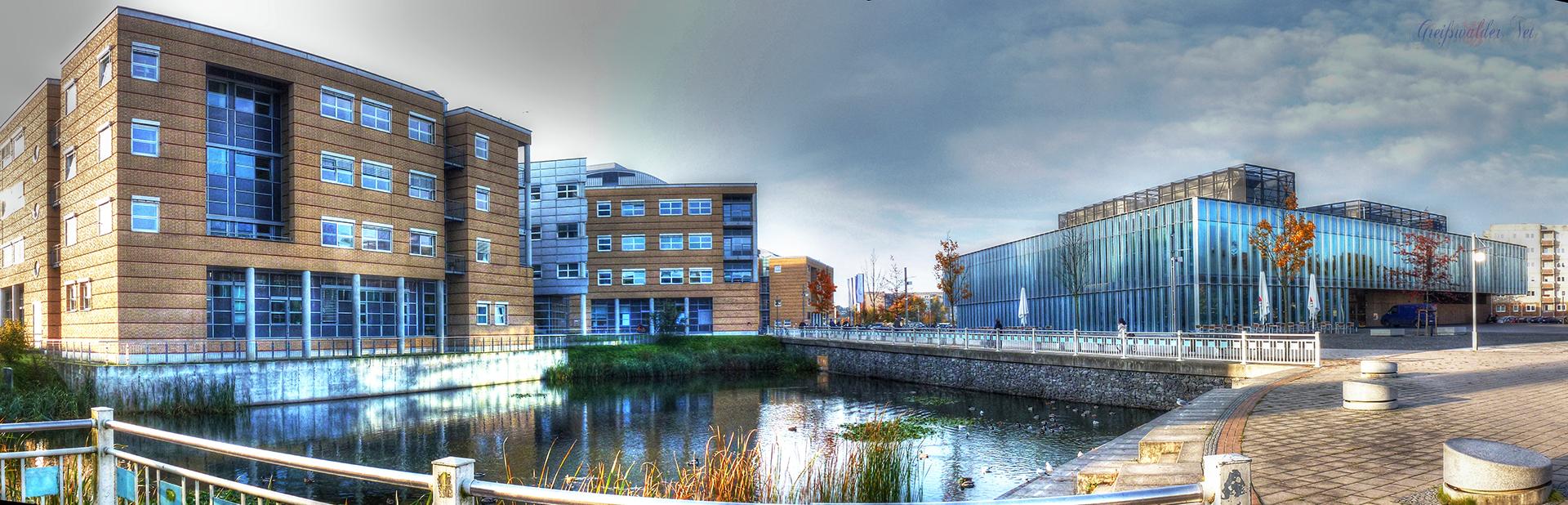 Klinikum und Mensa in Greifswald