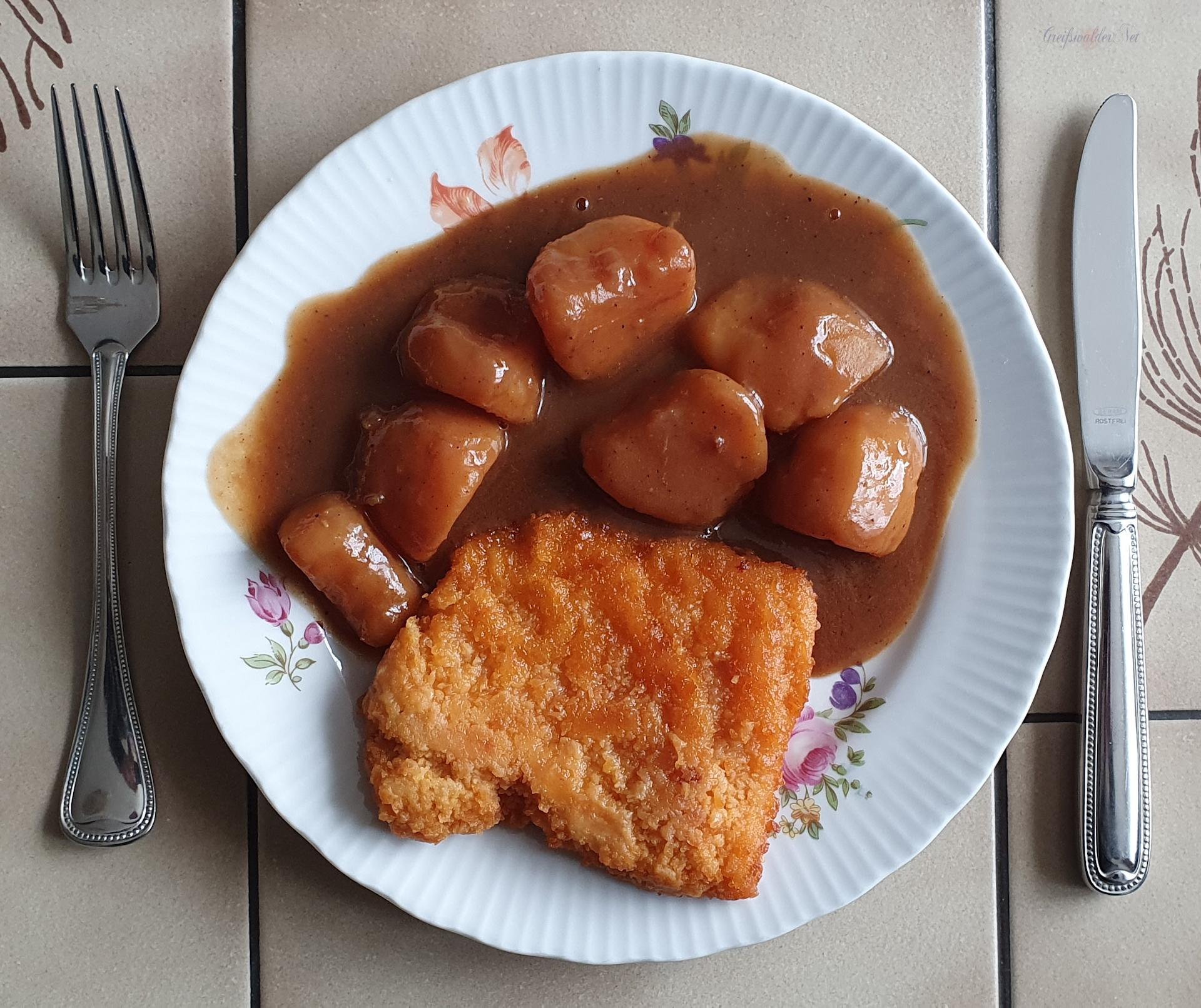 Hähnchenschnitzel mit Kartoffeln