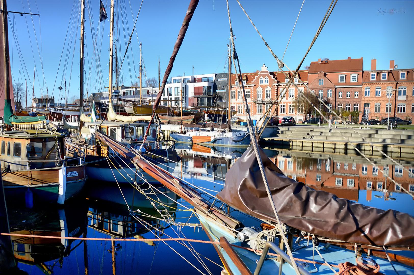 Herbst am Museumshafen Greifswald
