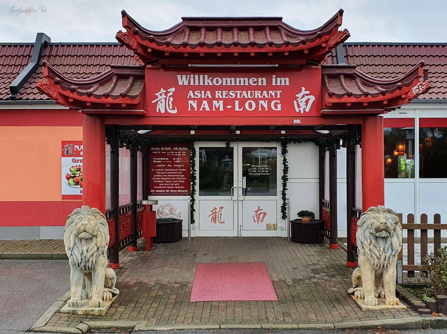 """Asia Restaurant """"Nam Long"""" in Neuenkirchen bei Greifswald - Noch einmal vor dem 2. Lockdown essen gehen."""